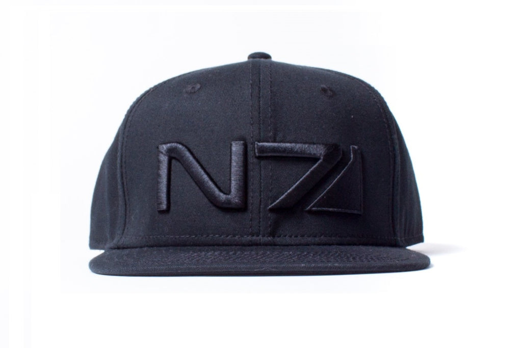 Mass Effect N7 Black Logo Snapback Cap