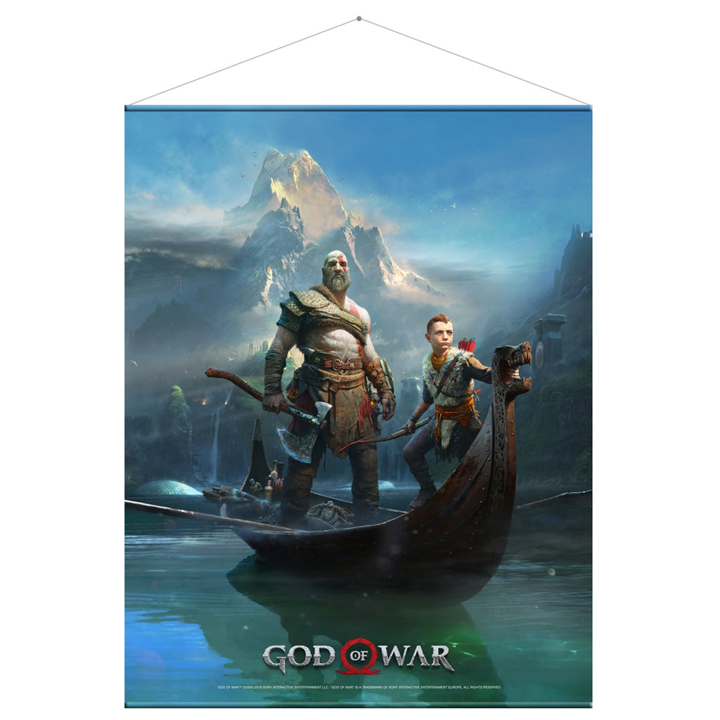 God of War Father and Son Wall Scroll