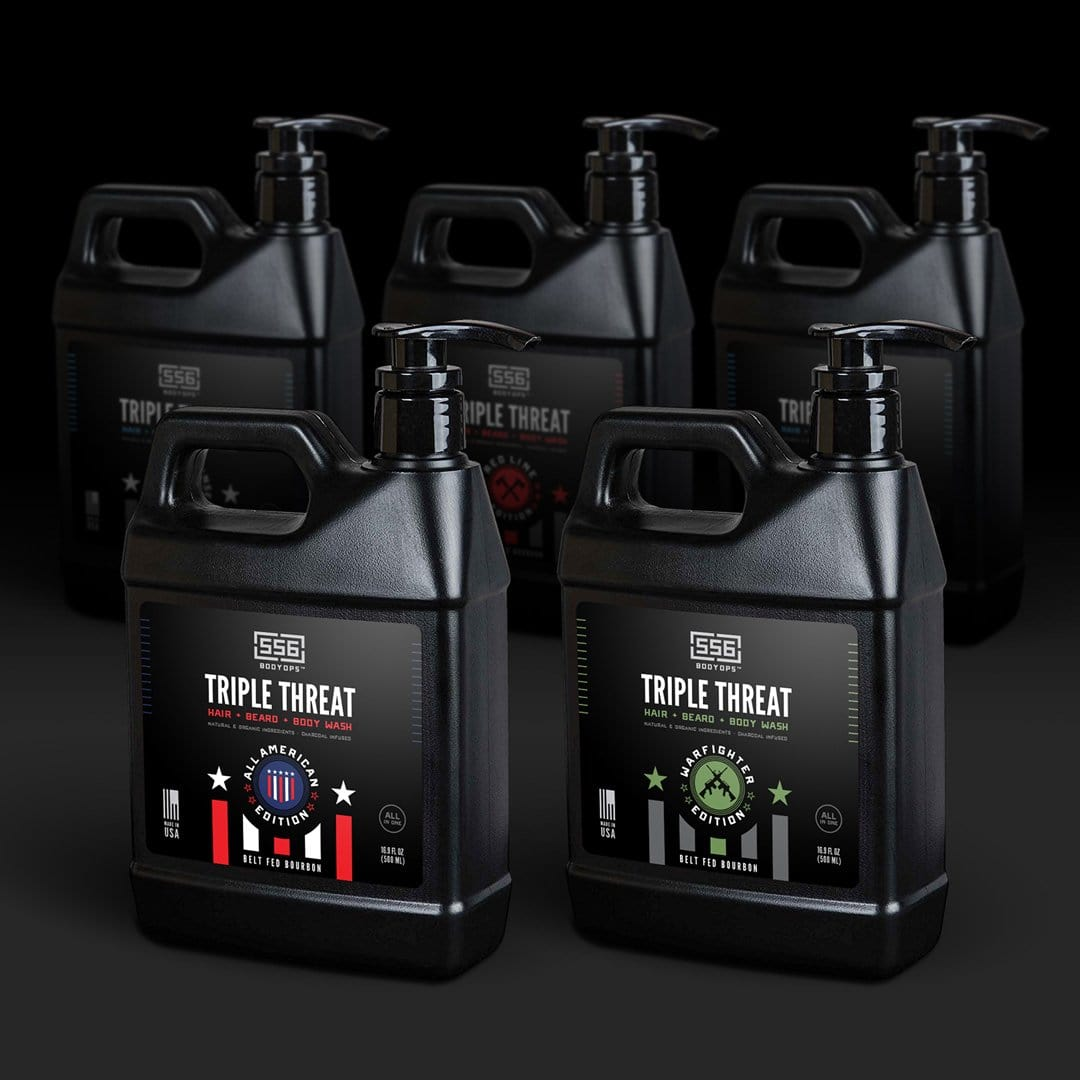 'Triple Threat'  Hair + Beard + Body Wash 16.9 oz