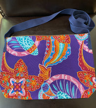 Load image into Gallery viewer, Multi-Colored Fabric Patterned Shoulder Bag (Pink and Turquoise)