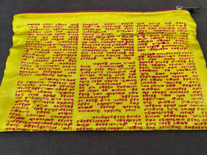 Silk Hindi Pouch