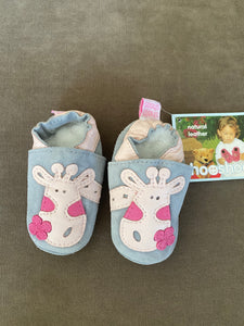 Bebe Giraffe Leather Moccasins