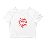 CS Girls Drink Coffee Crop Tee