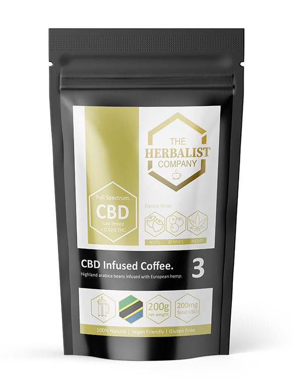 CBD Infused Ground Coffee 200g | 200mg - Cafetiere