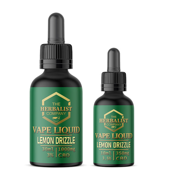 The Herbalist Co. CBD E Liquid - Lemon Drizzle