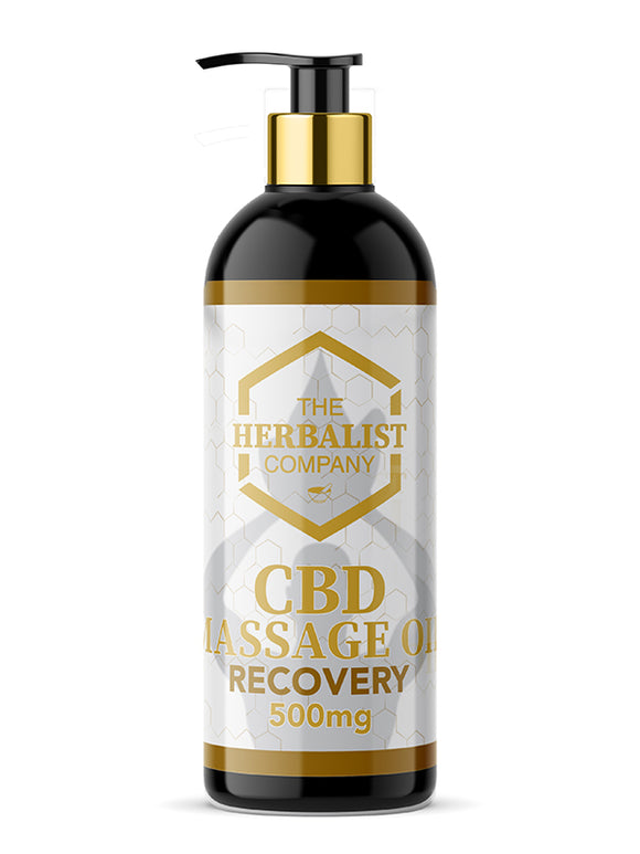 The Herbalist Company CBD Massage Oil - Recovery