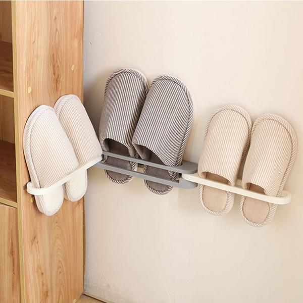 Wall Mounted Folding Slippers Rack - BestBck
