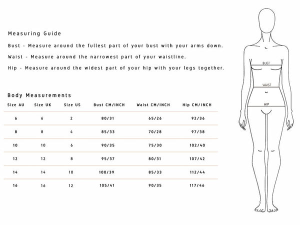 Ministry of Style Sizing Guide