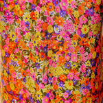 Load image into Gallery viewer, 60s Soft Comfy Flowy Cotton Blend  Floral Festival Dress, Sz M, Psychedelic Neon - Ysabel Vintage Online