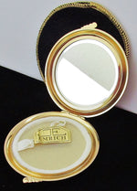 Load image into Gallery viewer, 40s 50s New Emrich Rhinestone Accented Powder Compact, Never Used - Ysabel Vintage Online