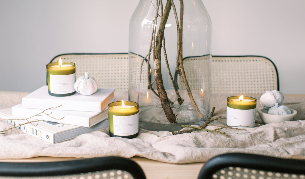handmade scented soy wax candles
