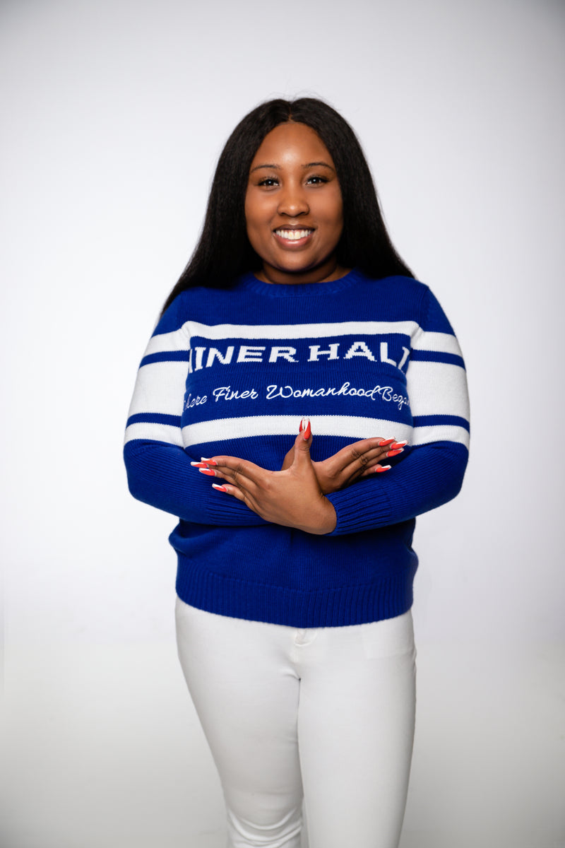 Miner Hall Sweater- Royal Blue