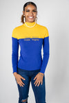 SGRho - Color-block Turtleneck Sweater