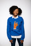 So Sweet Chenille Crewneck - Royal Blue [Unisex]