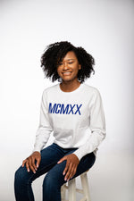 1920 Roman Numeral Sweater - White