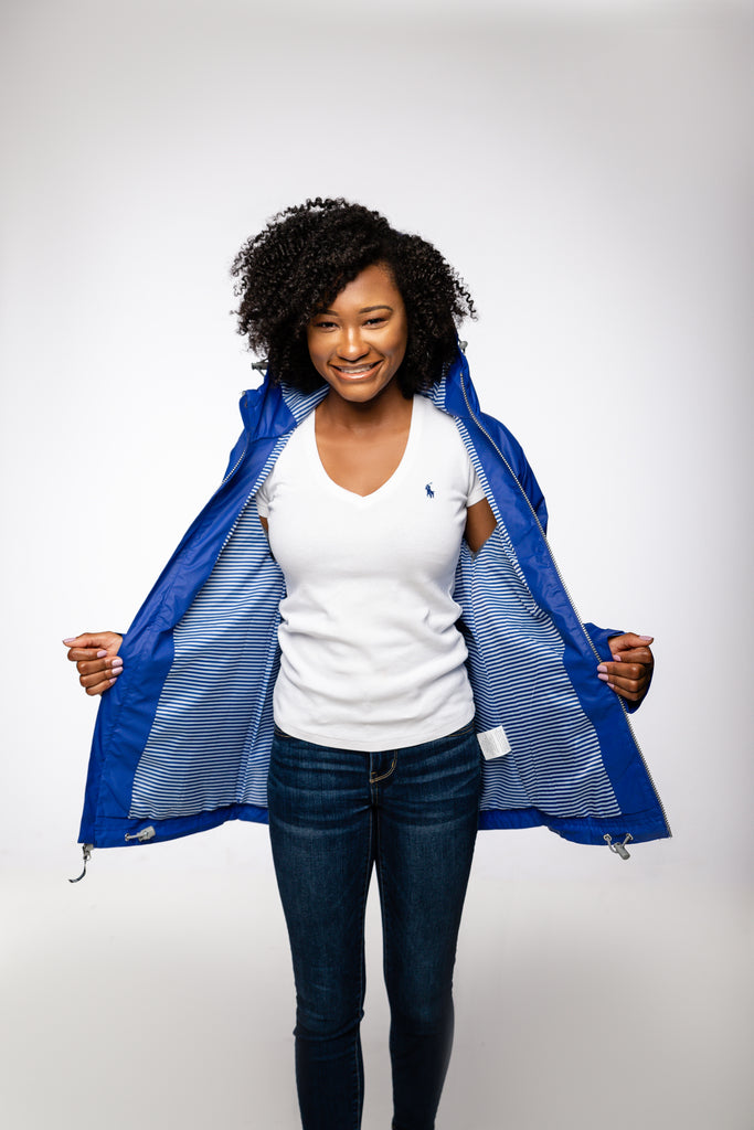 New Englander Rain Jacket - Royal Blue
