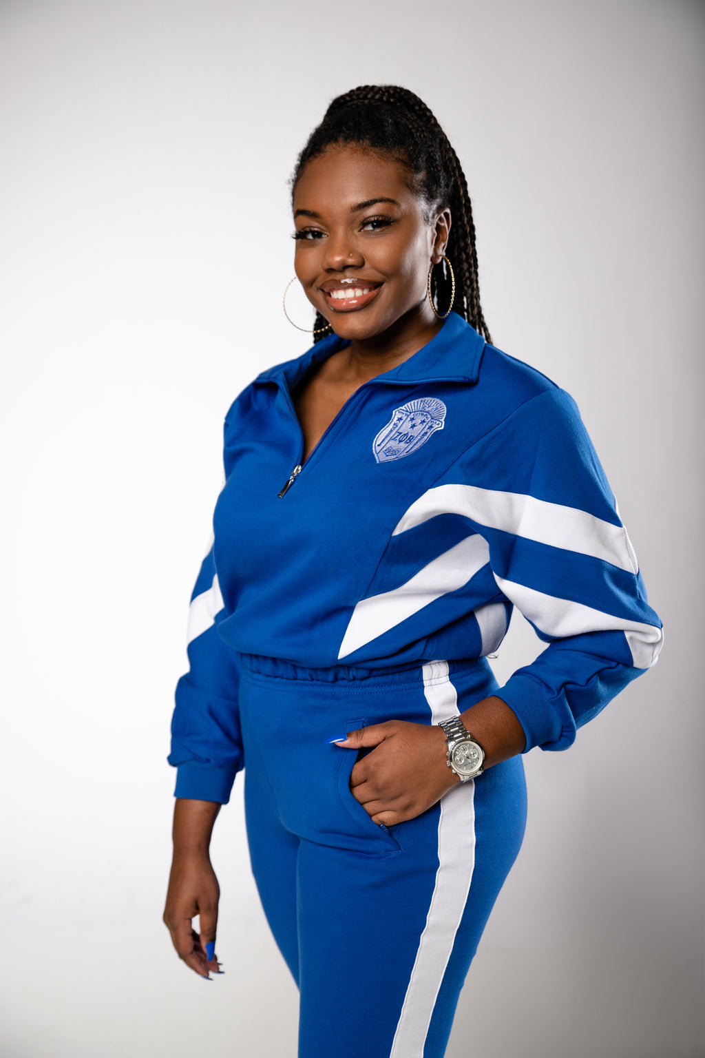 Dovely Zeta Tracksuit - Royal Blue