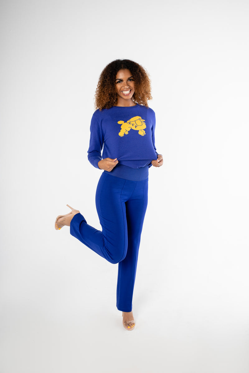 Pretty Poodle Sweater - Blue