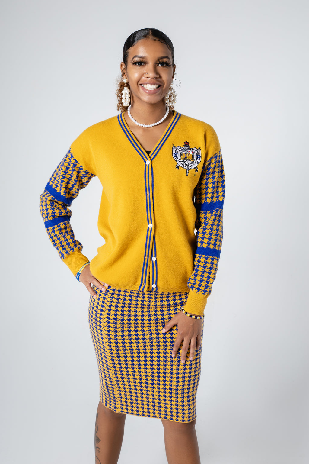 SGRho - Houndstooth Skirt Set