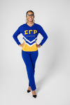 SGRho - Retro Chenille Arrowed V-Neck