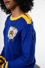 RHOyal Cable Knit Sweater - Blue