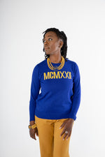 1922 Roman Numeral Sweater - Blue