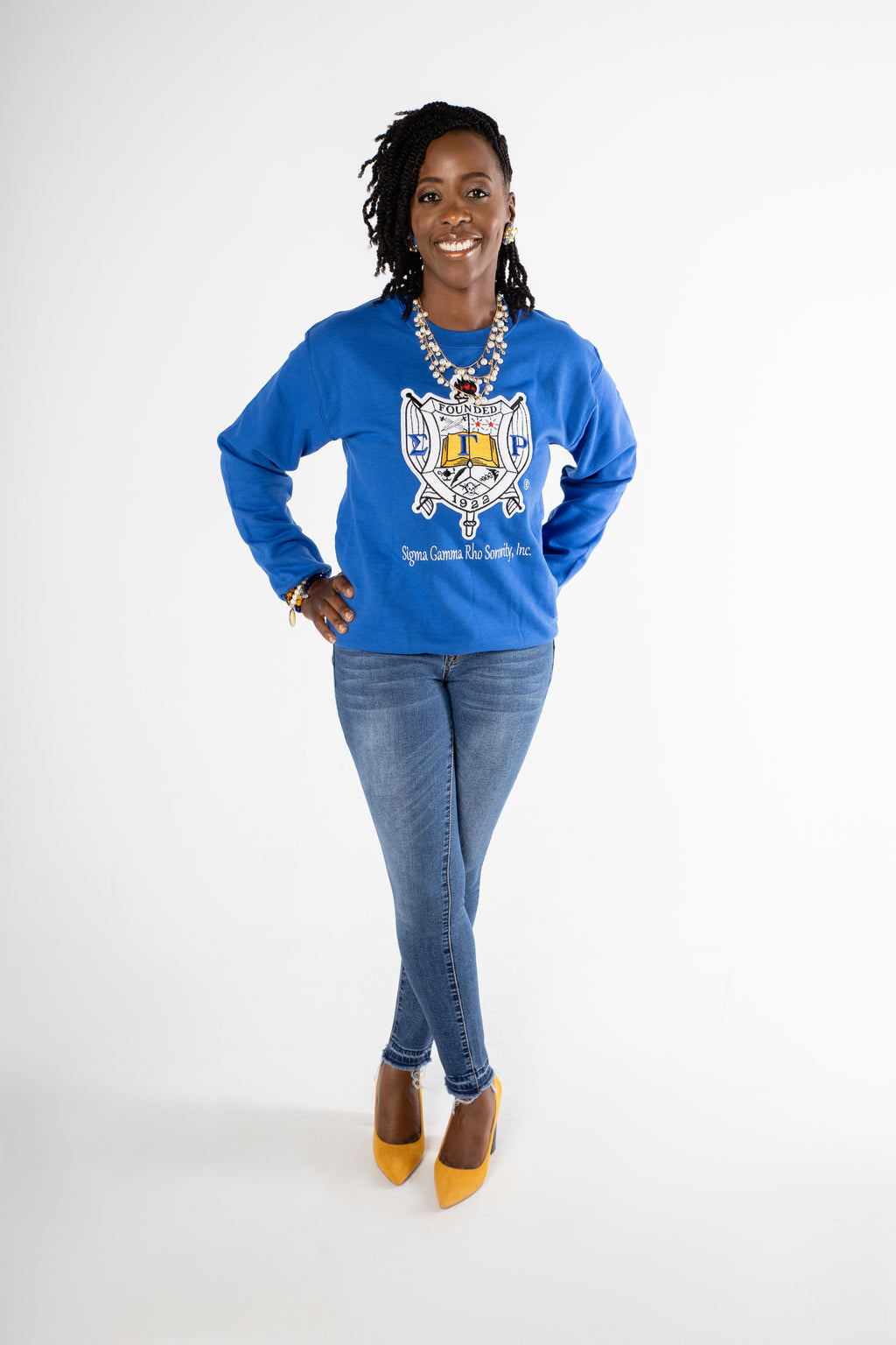 SGRho - Shielded Chenille Crewneck- Blue [Unisex]