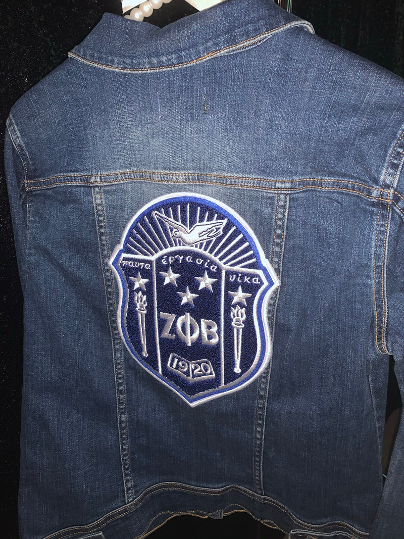 (FINAL SALE) Chenille Denim Jacket - Dark Wash - Large