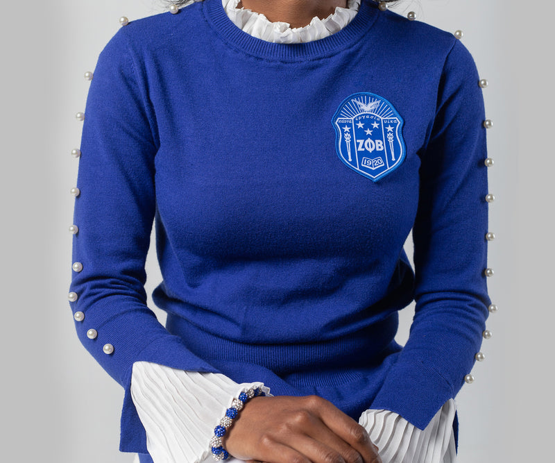 Pearlfect Sweater - Blue Shield