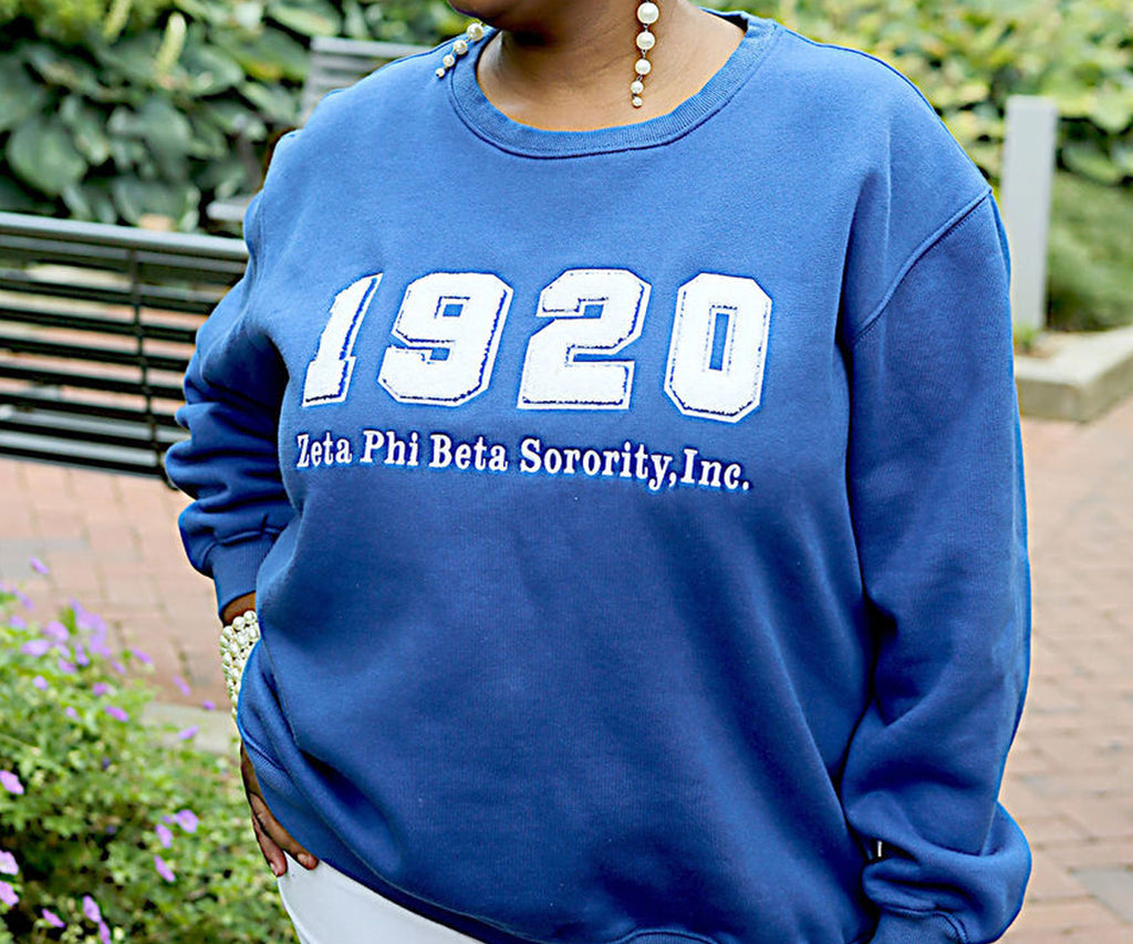 1920 Chenille Crewneck - Royal Blue [Unisex]