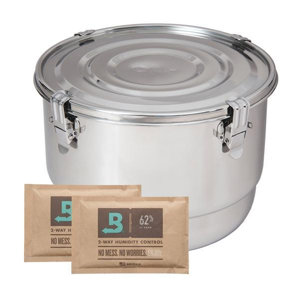 CVault 8 Liter Humidity Control Airtight Metal Stash Container - CVault - Deal Society