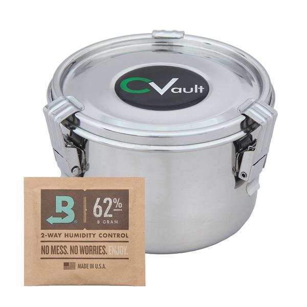 CVault Medium Humidity Control Airtight Metal Stash Container-CVault-Deal Society