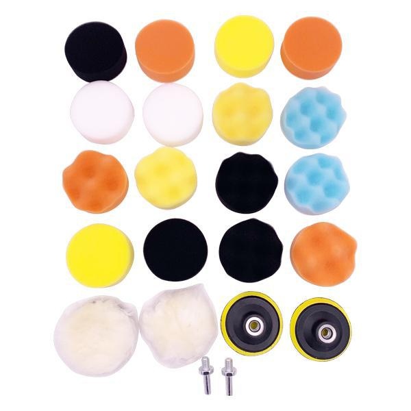 "24 piece Car Polishing Pad Kit Drill Tip Connection - 3"" Pads"