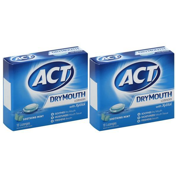 Act Dry Mouth Lozenges with Xylitol 18 ct - 2 Pack