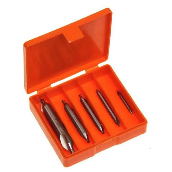 Anytime Tools 5 Center Drill Countersink Mill Tooling Lathe Bit Set