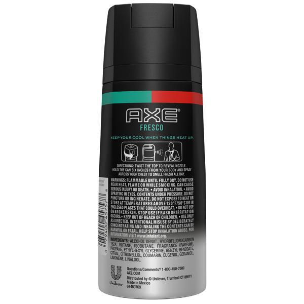Axe Fresco Body Spray For Men 4oz - 3 Pack