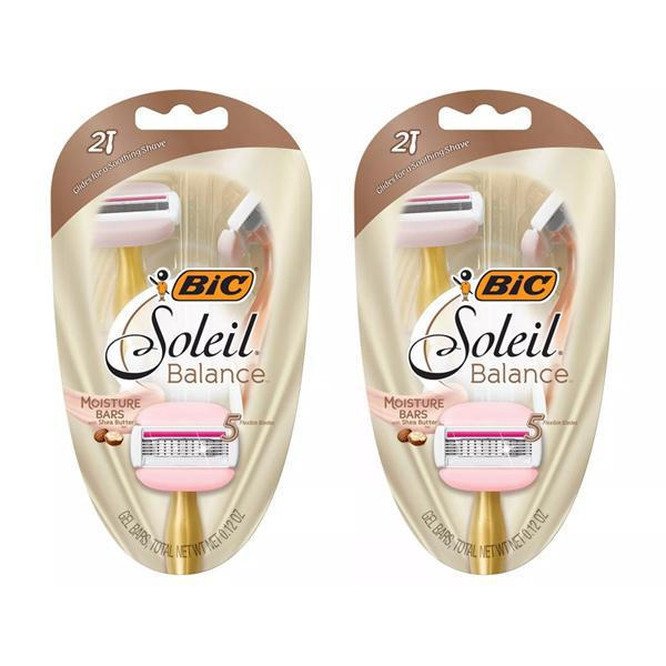 BiC 5 Blade Soleil Balance w/ Shea Butter Women's Disposable Razors 2ct - 2 Pack