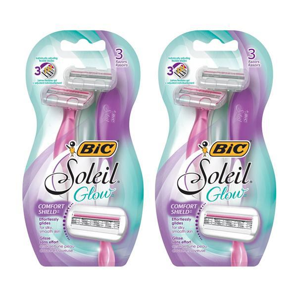 BIC Soleil Glow 3 Blade Women's Disposable Razors 3ct - 2 Pack