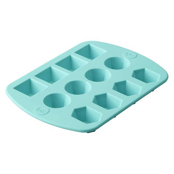 Silicone Gem Shapes Candy Gelatin Chocolate Mold, 12-Cavity
