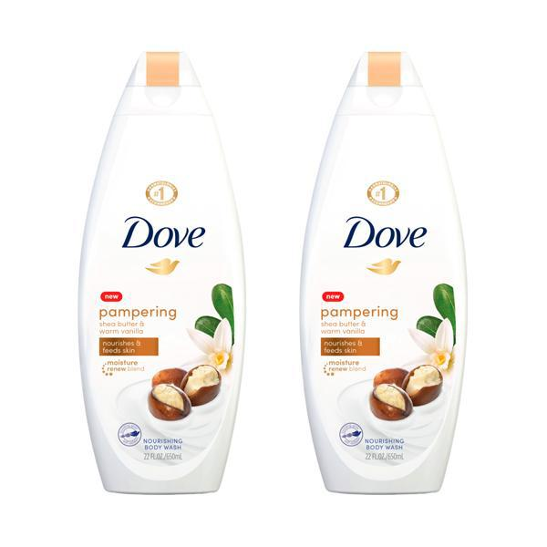 Dove Pampering Body Wash Shea Butter with Warm Vanilla 22 oz - 2 Pack