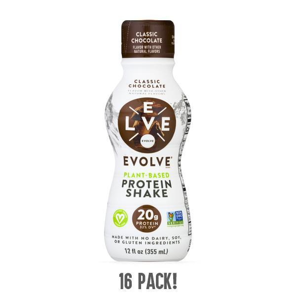 Evolve Classic Chocolate Protein Shake 20g Protein - 16 Pack
