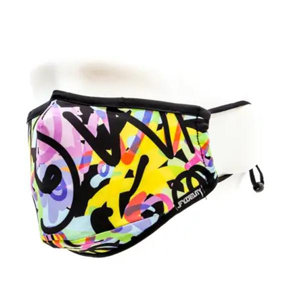 Fydelity Breathable Comfortable Fabric Cover Face Mask - Basquiat