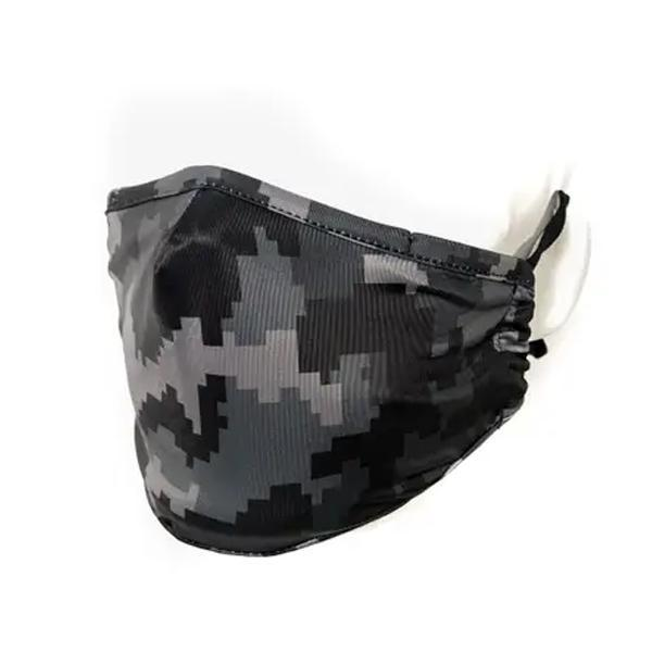 Fydelity Breathable Comfortable Fabric Cover Face Mask - Black Camo