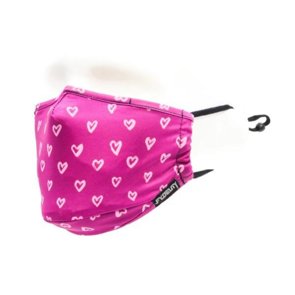 Fydelity Breathable Comfortable Fabric Cover Face Mask - I Heart