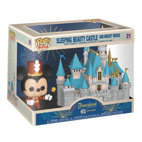 Funko Pop Town Sleeping Beauty Castle and Mickey Mouse 21 Vinyl Figure Set