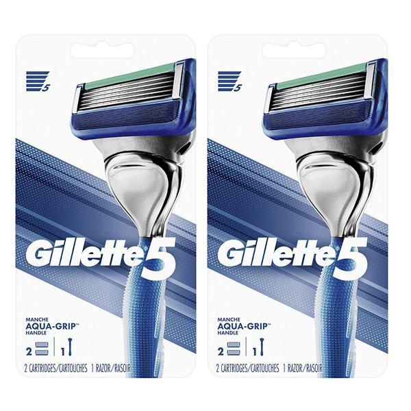 Gillette 5 Aqua Grip Razor Set - 2 Pack