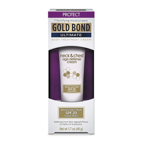 Gold Bond Ultimate Neck & Chest Age Defense Cream With Broad Spectrum SPF 20 Sunscreen 1.7 oz