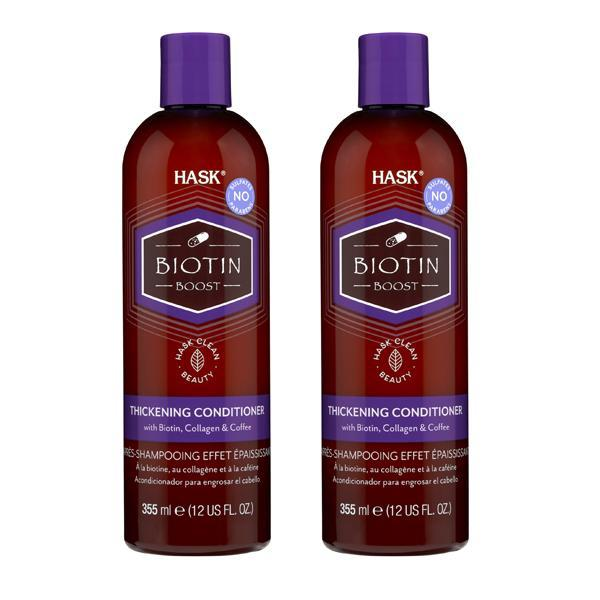 HASK Biotin Boost Thickening Conditioner with Biotin, Collagen, and Coffee - 2 Pack