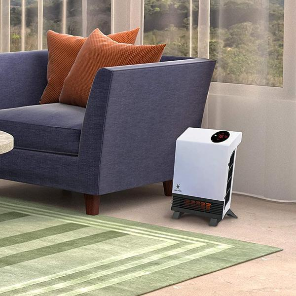 Heat Storm Wave Floor to Wall Infrared Space Heater with Attachable Feet & Remote