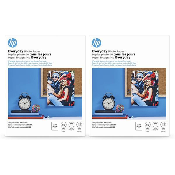 HP Everyday Photo Paper - Glossy 8.5x11 - 100 Sheets Total